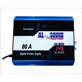 Fonte Automotiva Digital Al Sound 80 Amperes - Com Flutuador