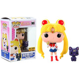 Funko Pop! - Sailor Moon With Moon Stick & Luna (hot Topic)