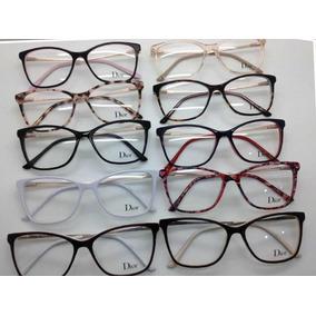 419d8cd08fe85 Armação Para Óculos De Grau Com Strass - Óculos no Mercado Livre Brasil