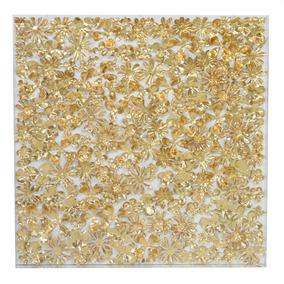 Cuadro Flor Papel Color Dorado Xm 058 Bm Home