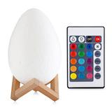 Navidad 3d Impresión Huevo Lámpara Dormitorio Luz 15cm