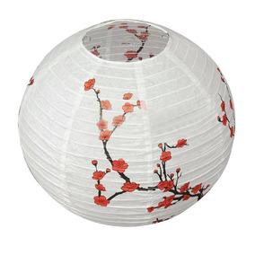 68de22f4fb44b Lanterna Luminária Japonesa Oriental Bola Papel Sakura