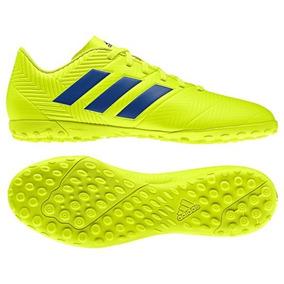 Chuteira Society adidas Nemeziz 18 4 Tf - Amarelo E Azul e773f3b41850d