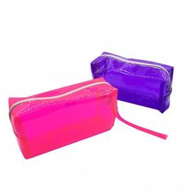 Neceser Rosa Violeta Transparente Plástico 17cm - Selfie