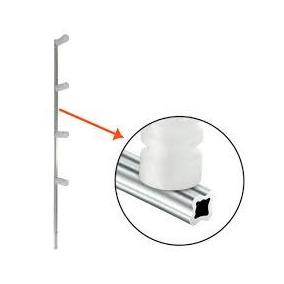 Haste Para Cerca Elétrica Em Aluminiun Estrela - Kit 20 Pçs