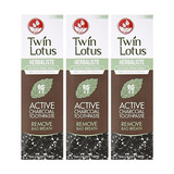 Twin Lotus Carbón Activo Toothpaste Herbal Acción Triple 100