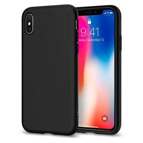 Funda Spigen Liquid Crystal Iphone X - Negro Slim Delgada