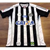 Camisa Do Santos Usada Em Jogo Brasileirão 2017 Autografada 07fc3f1f262e9