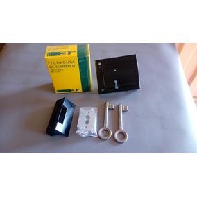 Kit 4 Fechaduras De Sobrepor Tipo Caixao 1220 3f Csegredo =