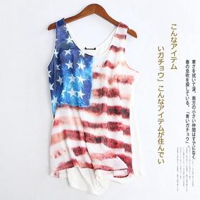 Blusa Paete Bandeiras - Camisetas e Blusas Regatas para Feminino no ... b72c2d7739c26