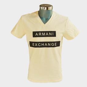 Playera Armani Exchange Paja Y Azul