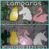Lamparas Led Cactus, Cisne,piña,unicornoo