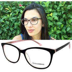 26e93e7cf2b30 Armação Oculos P  Grau Original Feminino Dg3219 Acetato