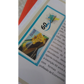 Selo Bandeira Do Brasil Zignauco/economista 60 Anos