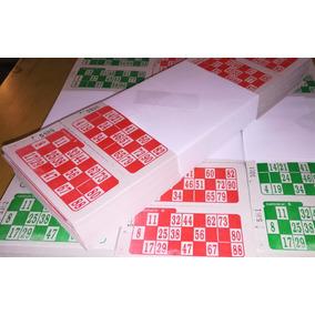 Talonarios Cartones Bingos X 2016 De Loteria Descartables
