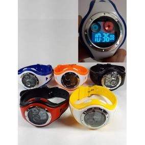 7 Relógios Esporte Infantis Digitais Kit Atacado 7pçs Top