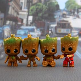 Kit Com 4 Chaveiros Baby Groot Guardiões Da Galaxy 2