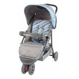 Carrinho Triciclo 3 Rodas De Bebê E Passeio Azul Junne