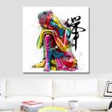Cuadro Impreso Buda Colours Lienzo Canvas Alta Calidad
