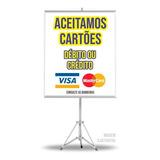 Banner Aceitamos Cartões Crédito Ou Débito