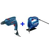 Sierra Caladora Bosch Gst 650 + Taladro Percutor Gsb 450 Je