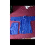 Kimono Judô Trançado Grosso Budokan Azul M4