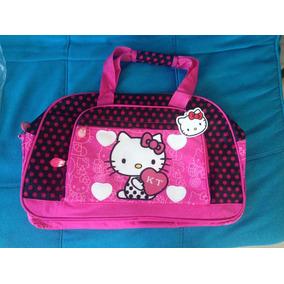 Bolso O Pañalera Hello Kitty Grande Amplio Para Bebés Niñas