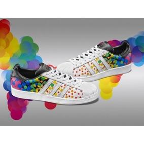 info for 86a1c 9480e Tenis adidas Superstar Pride Pack 100%original D Piel Hombre