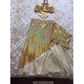Roupa De Dança Do Ventre, Figurino Dourado