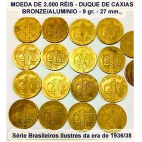 Moedas De 2.000 Réis Caxias 1938 50 Unidades Alianças