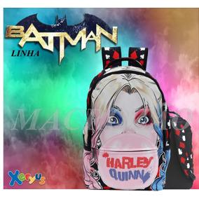 Mochila Teen Xeryus Arlequina Batman Ref 8140 Sem Juros