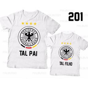 7311b6f476 Tal Pai Tal Filho Camiseta Alemanha Futebol Kit C  2 Ref 201