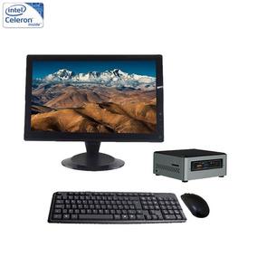 Mini Pc Nuc 6 Celeron 4gb + Ssd 180gb + Monitor 19 Led