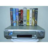 Videocasetera Vhs Sony Películas Y Cables Funciona Al 100 %