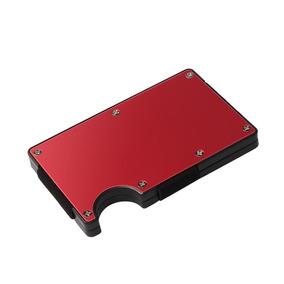 Tarjetero Money Clip Antirrobo Rfid Porta Tarjetas Aluminio