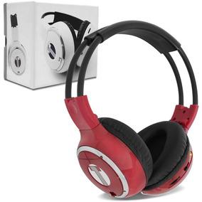 Fone De Ouvido Headphone Techone - Sem Fio P/ Dvd - Vermelho