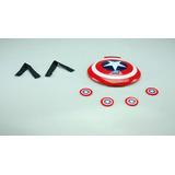 Escudo Capitán América Lanza Discos Tazos Vengadores Marvel