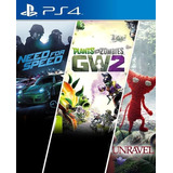 Need For Speed+unravel+plants Vszombies-ps4-digital-manvicio
