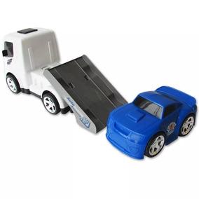Caminhão De Brinquedo Guincho C/ Plataforma E Carrinho