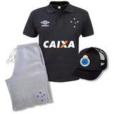 Kit Cruzeiro Polo+ Bermuda E Boné Mega Oferta . dd7a6da9e43e9