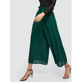 Veneno Chic : Pantalon Capri Palazo Fruncido De Vestir Verde