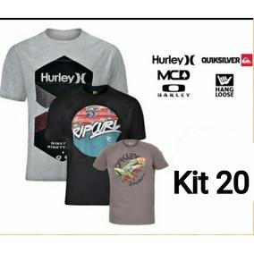 Kit 20 Camisetas Surf Original Multimarcas Atacado Roupas 049ae241d0669