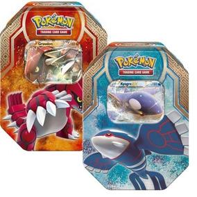 2 Lata Pokémon Lendas De Hoenn Kyogre Ex Groudon Ex