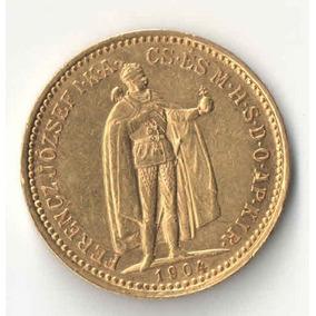 Hungria 10 Coroas 1904 Ouro 3,38g Au010