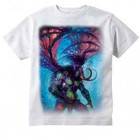 Camiseta Infantil World Of Warcraft Illidan 92130dc048013