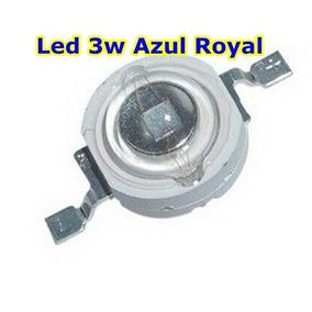 Super Power Led Chip 3w Azul Royal 440-455nm