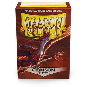 1x Cx 100 Sleeves Dragon Shield Magic/pokemón Matte Crimson