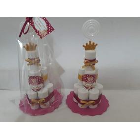 Kit 25 Mini Bolo Lembrancinhas Personalizado