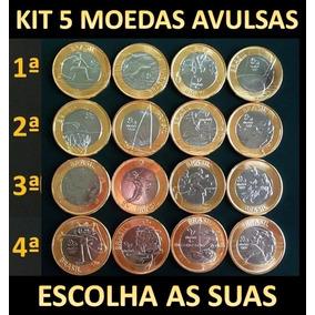 Kit 5 Moedas Avulsas Olimpíadas Rio 2016 - Todas Novas Fc