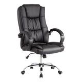 Cadeira Escritório Presidente Luxo Couro Pu Super Conforto